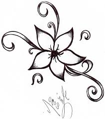 pretty designs of flowers to draw for those interested in getting