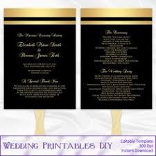Paddle Fan Program Template Wedding Fan Program Template Diy Printable Red Heart Order Of