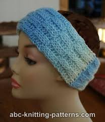 knitted headband pattern abc knitting patterns broken rib headband
