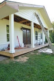 front porch makeover progress beneath my
