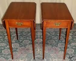 Cherry Drop Leaf Table Side Table Antique Drop Leaf Pedestal Side Table Vintage Drop