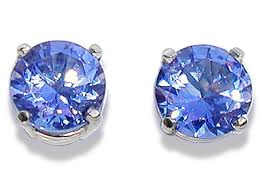 tanzanite stud earrings platinum large blue violet tanzanite stud earrings platinum large