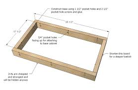 free kitchen cabinet plans the best of ana white kitchen cabinet sink base 36 full overlay face