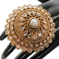 big rings designs images Awesome india polki fashion jewelry gold plated designer big JPG