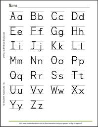 free printable print manuscript handwriting alphabet handout for