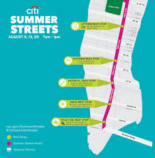 New York Street Map by Summer Streets 2016 Nyc Bike Maps