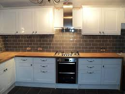 nice kitchen wall glass tiles white cabinet with green tile wall