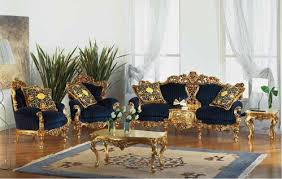Victorian Gold Eolo Living Room SetTop And Best Italian Classic - Victorian living room set