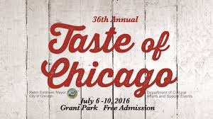 taste of chicago map 2016 taste of chicago july 6 10