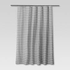Neutral Shower Curtains Stripe Shower Curtain Radiant Gray Threshold Target