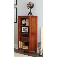Sauder Premier 5 Shelf Composite Wood Bookcase by E Ready Belcourt Delmont Cherry Open Bookcase Er Blc Obk72 D The
