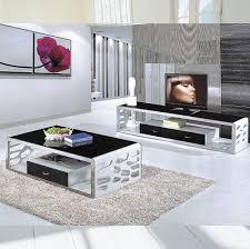 modern black table modern black white led tv table design tv839 buy led tv table