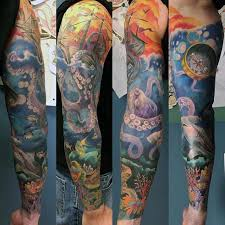 ocean tattoo flash designs pictures to pin on pinterest tattooskid