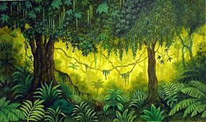jungle backdrop jungle stage set stage design by ken laidlaw