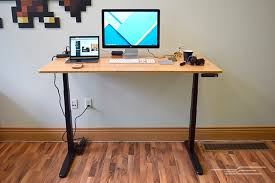 Small Stand Up Desk Gorgeous Small Desk Setup The Best Standing Desks The Wirecutter