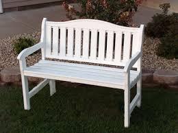 white patio bench treenovation