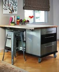Small Kitchen Island On Wheels A Kitchen That U0027s On A Roll Kitchens Pinterest Kitchens