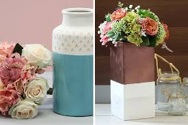 Diy Vases 2 Ways To Decorate Ceramic Vases Hobbycraft Blog