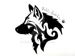 tribal wolf by peace wolf on deviantart
