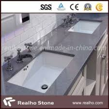 Commercial Bathroom Sinks And Countertop China Dark Grey Quartz Stone For Commercial Bathroom Sink