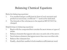 rules for balancing chemical equations worksheet worksheets