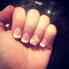 french tip with bow nail designs pinterest pretty nails