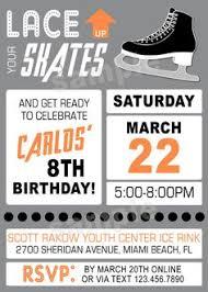 printable glitter chalkboard ice skating ticket birthday