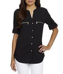 womens black blouse black s casual dressy tops blouses dillards