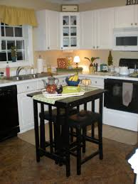 Kitchen With Island Floor Plans Extraordinary Small Kitchen Remodel With Island Seating For Two