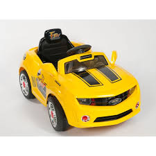 camaro remote car sport edition chevrolet camaro style ride on car with rc yellow
