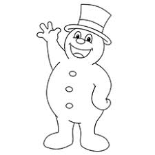 frosty snowman printables colouring pages free printable