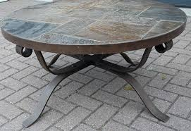 round stone top coffee table round glass top coffee table wrought iron woelmersgolf com