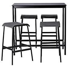 Kitchen Stools Ikea by Garpen Bar Table And 4 Bar Stools Ikea Small Patio Pinterest