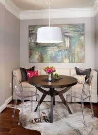 Cleaning A Wooden Dining Table by Clean White Dining And Living Space With Oversized Wood Framed