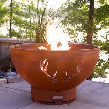 Gas Fire Pit Bowl Fire Pit Art Antlers Gas Fire Bowl Hayneedle