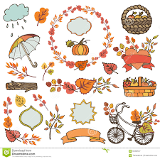 harvest decorations autumn leaves branches plant harvest decorations stock vector