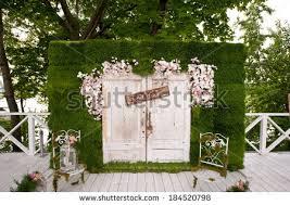 photo booth wedding wedding photobooth decoration stock photo 184520798
