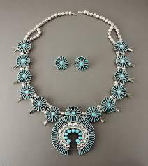 turquoise necklace earring set images Jewelry tagged quot joyce vacit tsethlikai quot keshi the zuni connection jpg