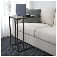 Ikea Desk Stand by Vittsjö Laptop Stand Black Brown Glass 35x65 Cm Ikea