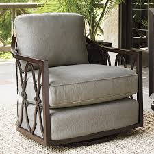 Swivel Outdoor Patio Chairs Tommy Bahama Outdoor Royal Kahala Swivel Patio Chair With Cushions