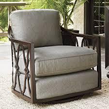 Patio Swivel Chair Tommy Bahama Outdoor Royal Kahala Swivel Patio Chair With Cushions