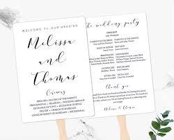 Wedding Programs Fans Templates Program Fans