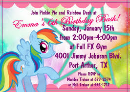 Invitation Cards Birthday Party Create My Little Pony Birthday Party Invitations Free U2014 Anouk