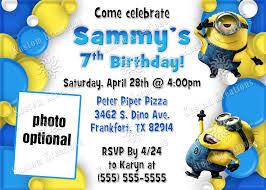 Minions Invitation Card Create Own Minion Birthday Invitations Modern Templates