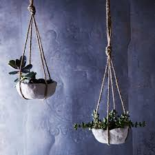 pinch pots make a comeback in diy air dry hanging planters