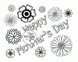 flowers card for mother u0027s day coloring page for kids coloring
