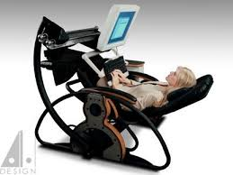 Zero Gravity Computer Desk Supine Workstation Using A Relax The Back Zero Gravity Recliner