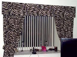curtains zebra print curtains ideas fun zebra print theme