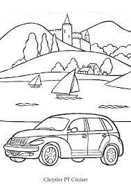 a colorier selon son imagination une voiture chrysler pt cruiser