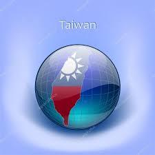 Map Of Taiwan Map Of Taiwan In The Globe Map Of Taiwan In The Globe U2014 Stock